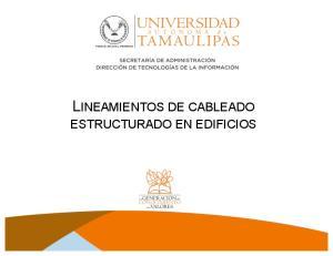 LINEAMIENTOS DE CABLEADO ESTRUCTURADO EN EDIFICIOS