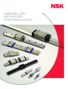 LINEAR BALL AND ROLLER GUIDES Product Reference Guide