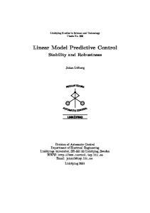 Linear Model Predictive Control
