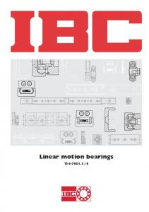 Linear motion bearings
