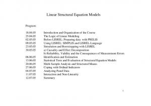 Linear Structural Equation Models