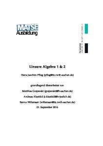 Lineare Algebra 1 & 2