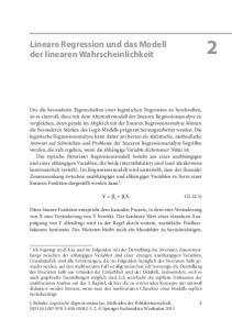 Lineare Regression und das Modell der linearen Wahrscheinlichkeit