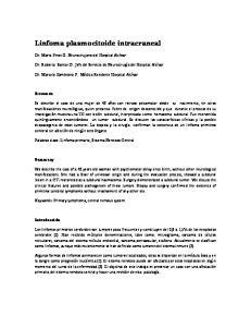 Linfoma plasmocitoide intracraneal
