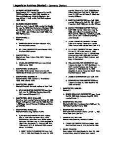 Lingenfelter Archives (Married) Carmen to Charlton