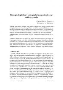 Linguistic ideology and lexicography