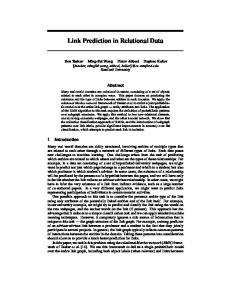 Link Prediction in Relational Data