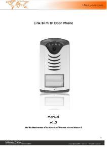 Link Slim IP Door Phone