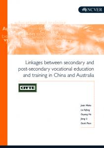 Linkages between secondary and post-secondary vocational education and training in China and Australia
