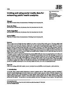 Linking and using social media data for enhancing public health analytics