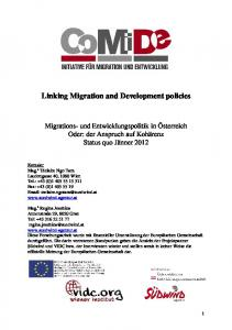 Linking Migration and Development policies