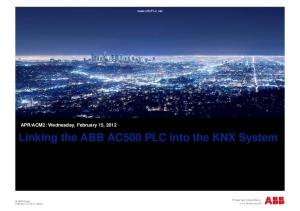 Linking the ABB AC500 PLC into the KNX System