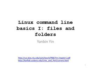 Linux command line basics I: files and folders