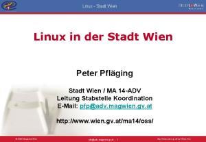 Linux in der Stadt Wien