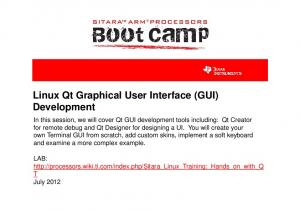 Linux Qt Graphical User Interface (GUI)