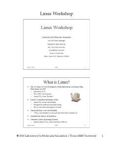 Linux Workshop. Linux Workshop