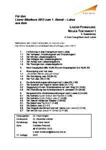 LINZER FERNKURS: NEUES TESTAMENT I