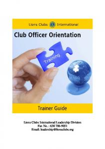Lions Clubs International Leadership Division Fax No. :