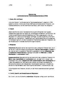 LIPAV STATUTEN. Statuten des Liechtensteinischen Patentanwaltsverbandes (LIPAV)