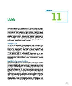 Lipids. chapter. Storage Lipids. Fatty Acids Are Hydrocarbon Derivatives