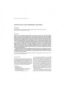 LIPOSUCTION IN ARM LYMPHEDEMA TREATMENT