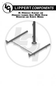 LIPPERTCOMPONENTS XL HYDRAULIC SLIDEOUT AND HYDRAULIC LANDING GEAR (HLG) SYSTEM OPERATION AND SERVICE MANUAL