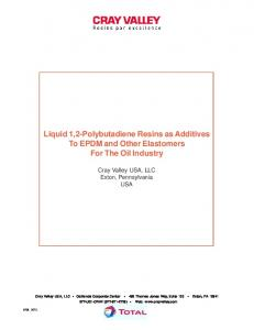 Liquid 1,2-Polybutadiene Resins as Additives To EPDM and Other Elastomers For The Oil Industry