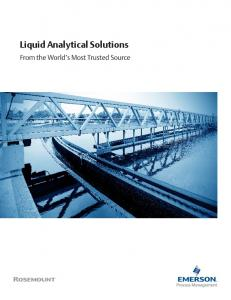 Liquid Analytical Solutions. From the World s Most Trusted Source