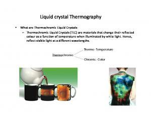 Liquid crystal Thermography