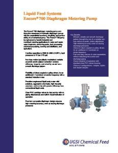Liquid Feed Systems Encore 700 Diaphragm Metering Pump