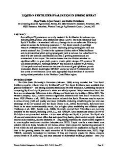 LIQUID N FERTILIZER EVALUATION IN SPRING WHEAT