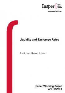 Liquidity and Exchange Rates