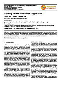 Liquidity Excess and Futures Copper Price