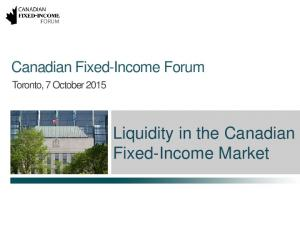 Liquidity in the Canadian Fixed-Income Market