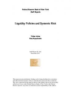 Liquidity Policies and Systemic Risk