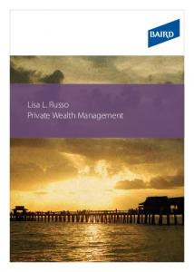 Lisa L. Russo Private Wealth Management