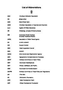 List of Abbreviations