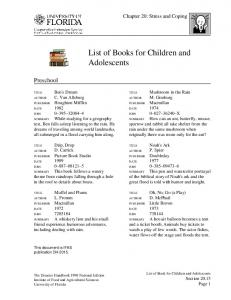 List of Books for Children and Adolescents