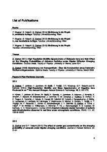 List of Publications. Books