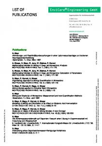 LIST OF PUBLICATIONS. Publications