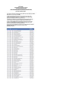 List Printed: December 18, 2014