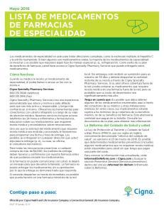 LISTA DE MEDICAMENTOS DE FARMACIAS DE ESPECIALIDAD