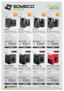 lista de precios agosto 2016