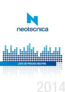 LISTA DE PRECIOS NEUTRIK