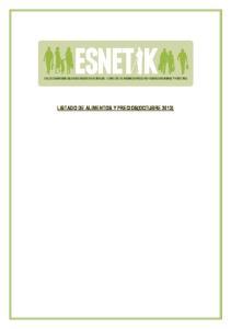 LISTADO DE ALIMENTOS Y PRECIOS(OCTUBRE 2013)