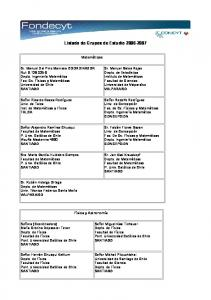 Listado de Grupos de Estudio