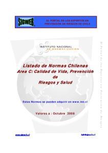 Listado de Normas Chilenas