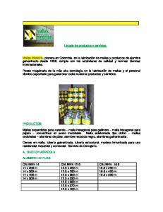 Listado de productos y servicios