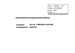 LISTADO DEFINITIVO DE ADJUDICATARIOS DE DESTINO C0711JA DEFINITIVO
