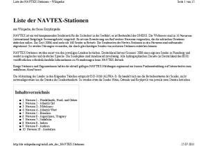 Liste der NAVTEX-Stationen